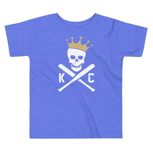 Commandeer Brand 2T Crossed Bats Toddler Tee - Royal