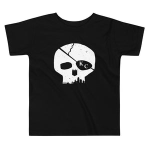 Commandeer Brand 2T Skyline Skull Toddler Tee