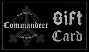 Commandeer Brand Clothing Gift Card