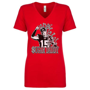 Commandeer Brand Clothing Sugar Daddy Women's V-neck Tee