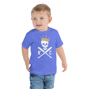 Commandeer Brand Crossed Bats Toddler Tee - Royal