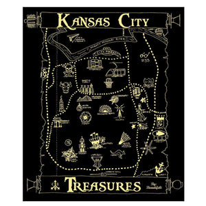 "Commandeer Brand Kansas City Treasures Print ""Black/Gold"""