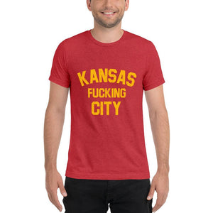 Commandeer Brand Kansas F*cking City Tee Red & Gold