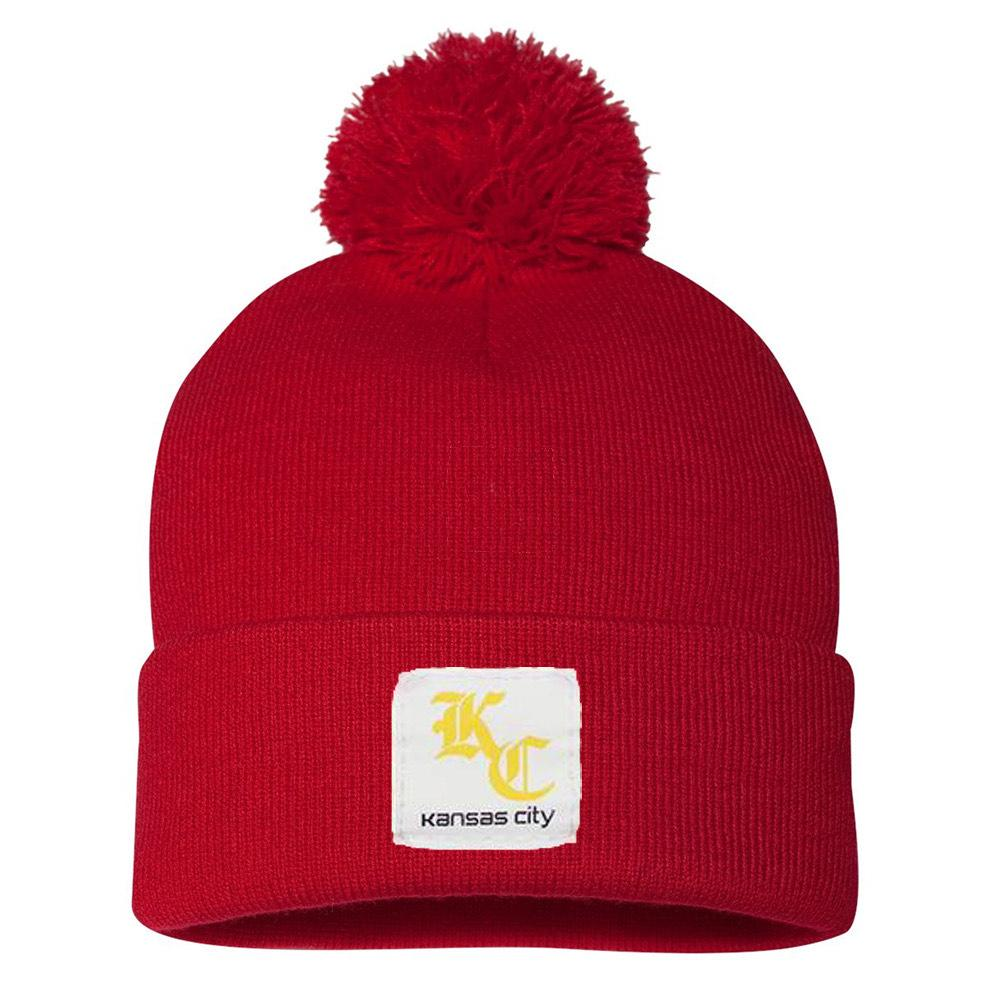 Commandeer Brand KC Hartt Pom Beanie - Red
