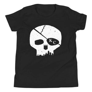 Commandeer Brand S Skyline Skull Youth Tee