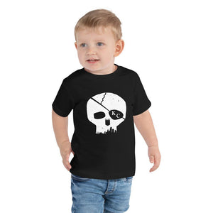 Commandeer Brand Skyline Skull Toddler Tee