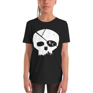 Commandeer Brand Skyline Skull Youth Tee