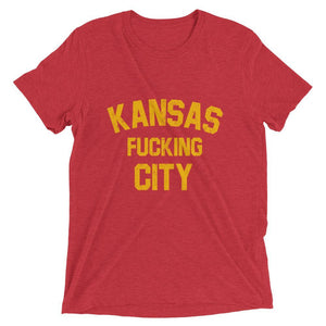 Commandeer Brand XS Kansas F*cking City Tee Red & Gold