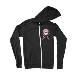 Commandeer Clothing Crossed Arrows Zip Up Hoodie