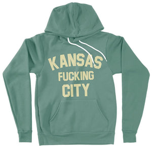 Commandeer Clothing Kansas F*cking City Hoodie Gold on Green