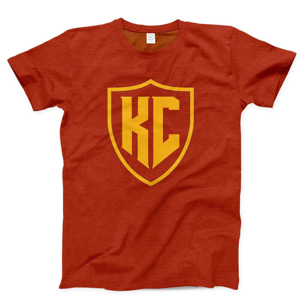 Commandeer Clothing KC Shield Tee - Red and Gold