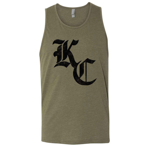 Commandeer Clothing Olde KC Unisex Tank - Military Green