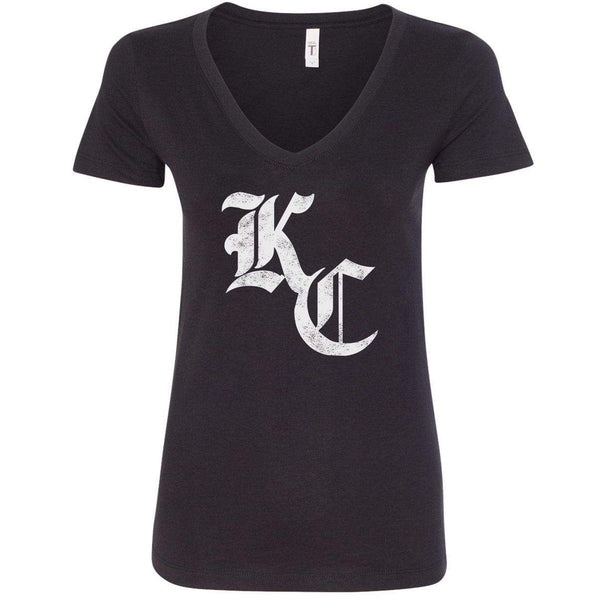 Commandeer Clothing Olde KC Women's V-neck - Black