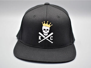 Commandeer Headwear Crossed Bats Snapback Hat - Black