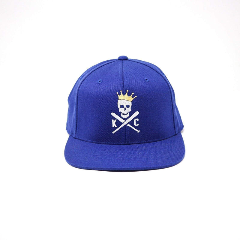 Crossed Bats Snapback Hat - Blue