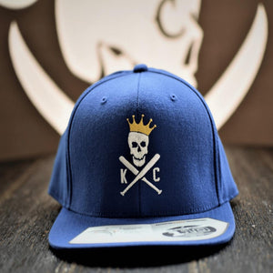 Commandeer Headwear Crossed Bats Snapback Hat - Blue