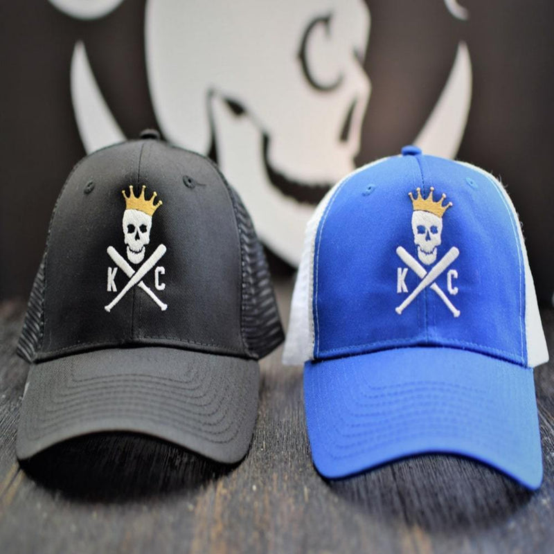 Crossed Bats Trucker Hats