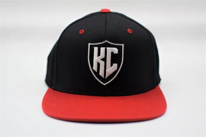 Commandeer Headwear KC Shield Snapback - Black and Red