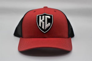 Commandeer Headwear KC Shield Trucker - Black and Red