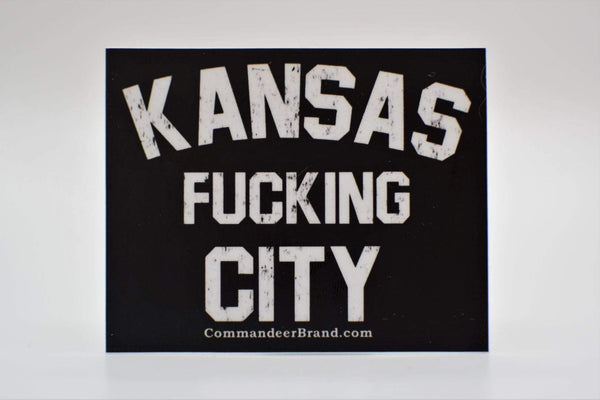 CommandeerBrand Accessories Kansas F*cking City Vinyl Sticker
