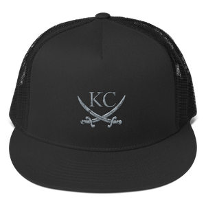 CommandeerBrand Black KC Crossed Swords Trucker Hat