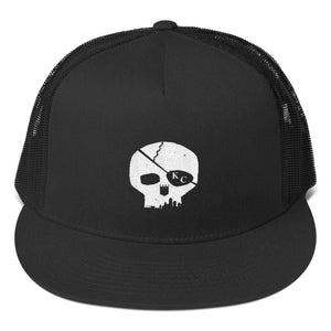 CommandeerBrand Black Skyline Skull Trucker Cap