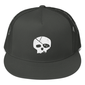 CommandeerBrand Charcoal Skyline Skull Trucker Cap