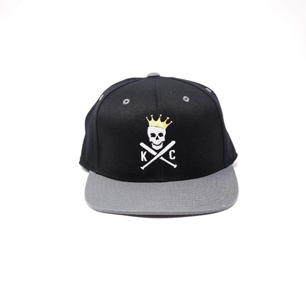 CommandeerBrand Crossed Bats Snapback Hat - Black & Gray