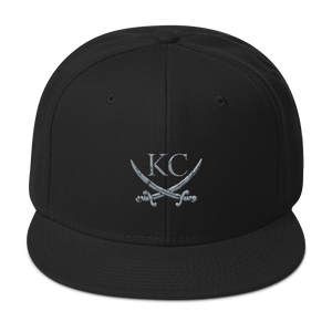 CommandeerBrand Headwear Black KC Crossed Swords Snapback