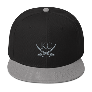CommandeerBrand Headwear Gray / Black / Black KC Crossed Swords Snapback