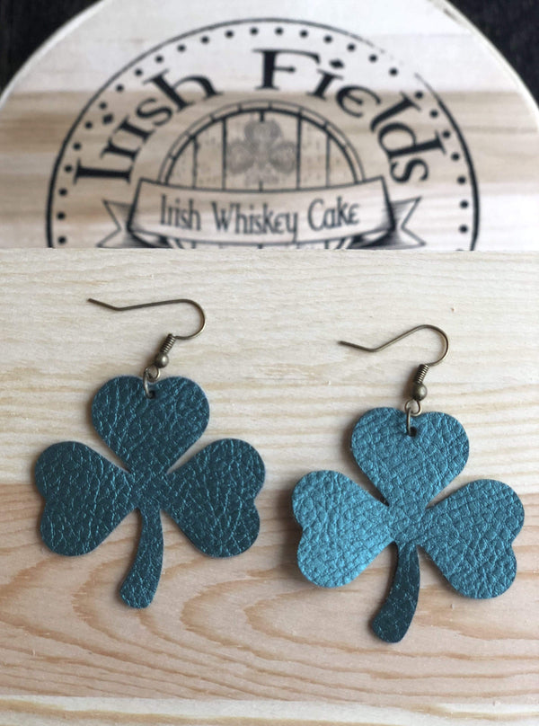 CommandeerBrand Jewelry Shamrock Leather Earrings
