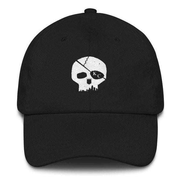 Printify Skyline Skull Dad hat