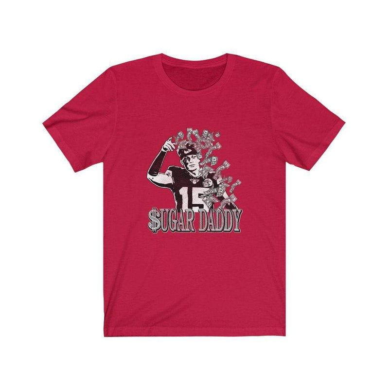 Printify T-Shirt Red / L Sugar Daddy Tee