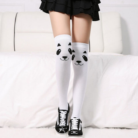 Panda Print Stockings