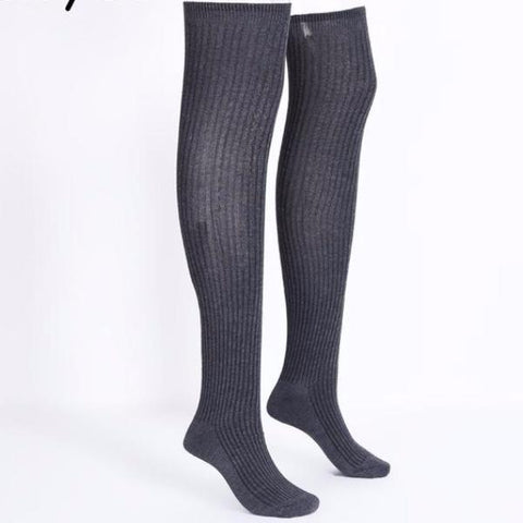 BerryGo Knitted high knee classical winter stockings
