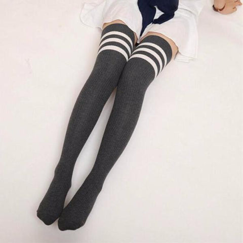 Womail Winter Knitted Thigh-High Stockings