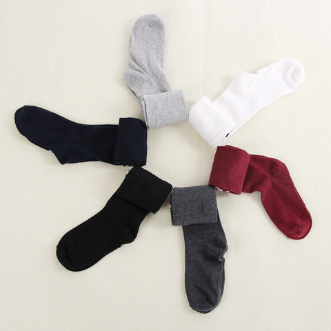 Red Over Knee Socks Cotton Thigh Stocking