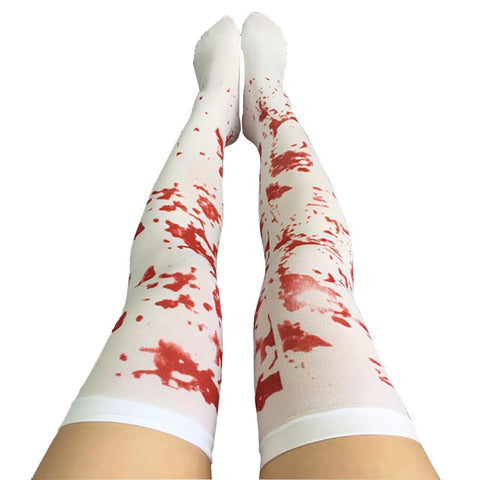 White Print Stockings - Bloodstains