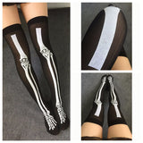 Print Stockings - Skeletal