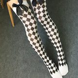 Japanese Printed Thigh High Stockings - Anchors Away