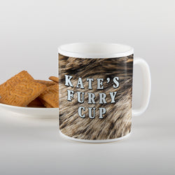 Personalised furry cup