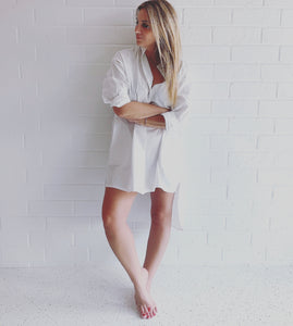 AURIC WINTER WHITE HOMESHIRT DRESS