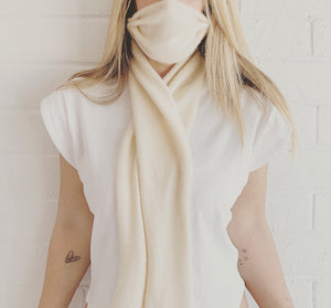 AURIC CASHMERE Mask + Wrap Scarf