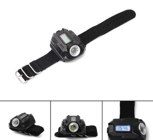 Rechargeable Wrist Watch with Flashlight - Sunflower Musk