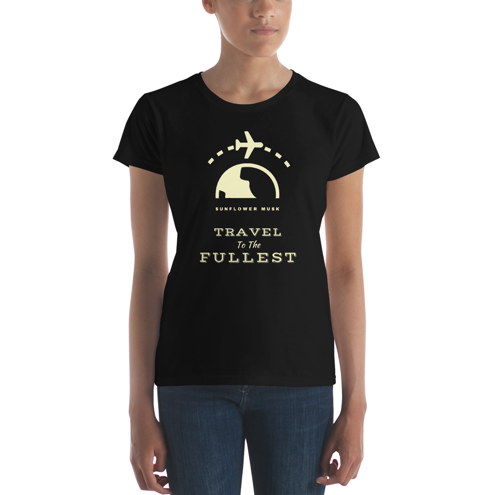 Travel to the Fullest Women's T-shirt - Sunflower Musk