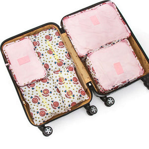 Six Piece Travel Organizer Set - Sunflower Musk
