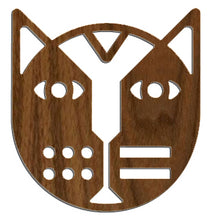 """Geo Face Cat"" Wall Sculpture, 22.5"" diameter"