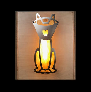 """Kitty Cone Love"" Wall Sconce"