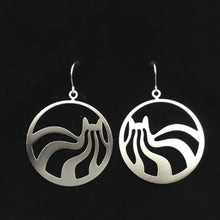 """Laid-back cats"" hoop cat earrings"