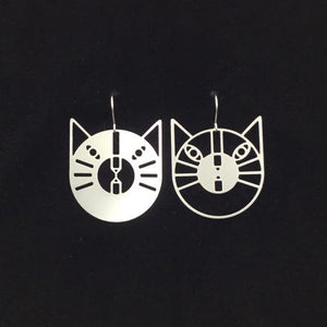 """Reverse Cats"" earrings"